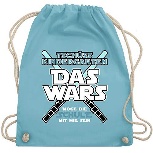 Einschulung und Schulanfang - Das Wars Kindergarten Blau - Unisize - Hellblau - WM110 - Turnbeutel & Gym Bag