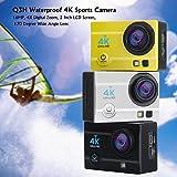 Generic Q3H Waterproof 4K Sports Camera - 16MP, 4X Digital Zoom, 2 Inch LCD Screen, 170 Degree Wide Angle Lens (Black)