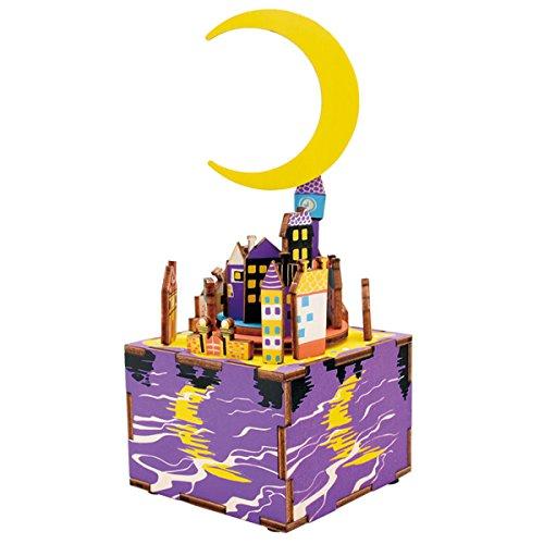 Happy Cherry - Puzzle 3D fai da te modello Costruzioni in legno giocattolo educativo Game (Ragazze Music Box)