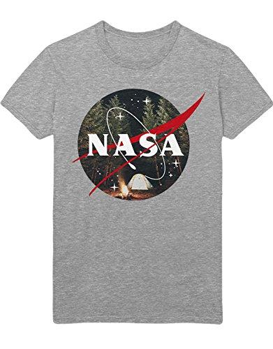 Hypeshirt T-Shirt NASA Logo Wild Camping K123450 Grau