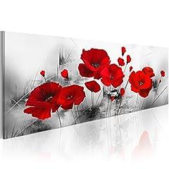 Idea Regalo - murando Quadro 135x45 cm - 1 Pezzo Stampa su Tela in TNT XXL Immagini Moderni Murale Fotografia Grafica Decorazione da Parete Fiori Papavero b-A-0339-b-a
