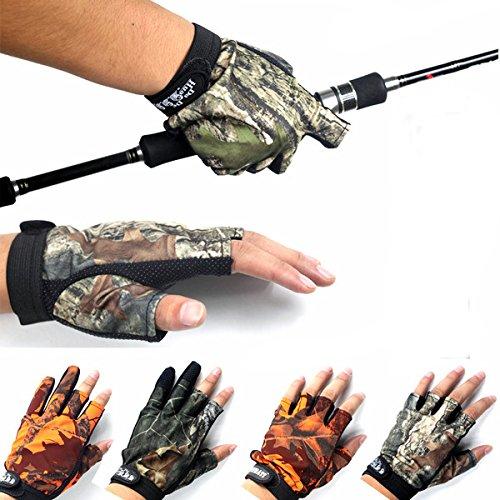 LaDicha Anti-Rutsch Handschuhe Outdoor Angeln 3 Finger 5 Finger-Handschuhe Für Männer Gegen-003