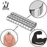 WINTEX 20 Mini Magnete N45 für Glas-Magnetboards / Magnettafeln / Kühlschränke, Maße 6 x 3 mm, mit sehr starker Haftung und 2 Jahren Zufriedenheitsgarantie - 2