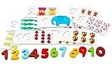 Happy Cherry - Jeu de Construction en Bois Coloré - Calcul et Mathématiques -Puzzle Apprentissage à Compter - Jouet de Société Educatif pour Bébé Enfant Garçon Fille