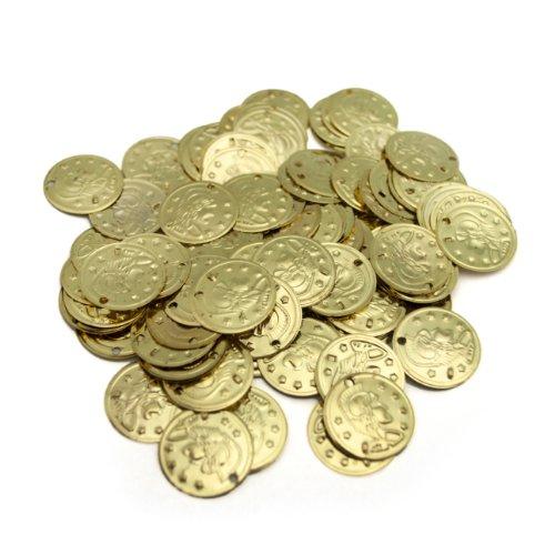 BellyLady Kunstnägel Bauchtanz Münzen, mit Cavalier Design auf Einer Seite, Gold, BDSH-DK16196_Gold