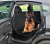 COUVRE-SIÈGE AUTO o noir o polyester + PVC o 144 x 144 cm o facile à nettoyer o imperméable o tapis pour une couverture des sièges auto arrière et du coffre o #4077