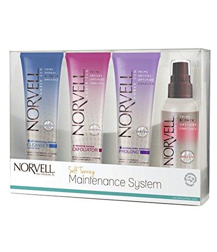 Norvell Self Tanning Maintenance System - Komplettes Selbstbräuner Set in attraktiver Geschenk Verpackung -