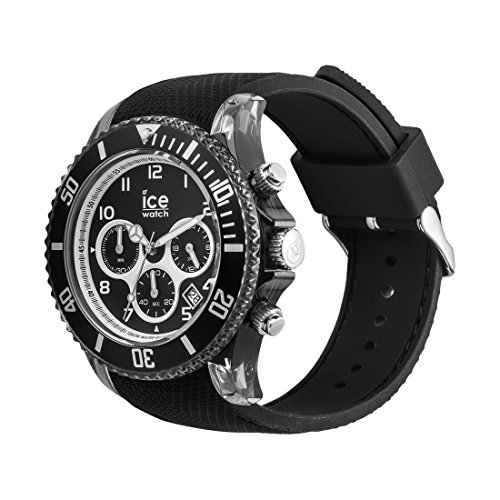 Ice-Watch – ICE dune Black – Men's wristwatch with silicon strap – Chrono – 014216 (Large)