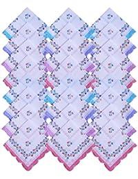 S4S Women's Cotton Handkerchief (Multicolour, 2HK14) - Pack of 24