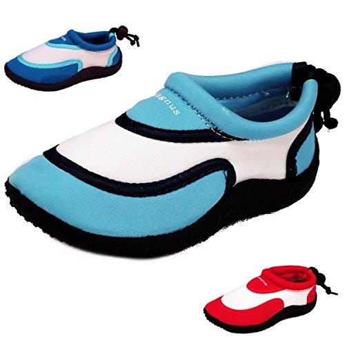 Enfants Sabots chaussons (170a) aquatiques badelatschen Chaussons Mules à chaussures neuf Rouge - Rouge