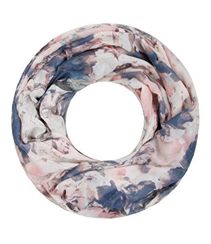 Majea NEUE Saison Damen Loop Schal viele Farben Muster Schlauchschal Halstuch in aktuellen Trendfarben (puder 17)