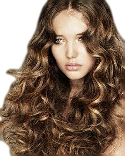 (NEU)CLIP IN EXTENSIONS HAARVERLÄNGERUNGEN GOLDBRAUN MIT KUPFER SCHIMMER HIGHLIGHTS 60 CM 160 G Clip Ich Hair Extensions Braun