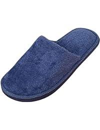 5a952f8675b zycShang Pantoufles Homme Femme Couleur Unie Accueil Intérieur Outdoor  Antidérapant l hiver Chaussures De Coton