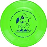 Eurodisc 135g Frisbee per cani anti-foratura di colore verde brillante, Puncmaster Fun Award
