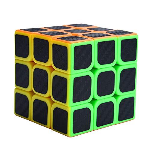 JIUZHOU Aufkleber für Zauberwürfel, 3 x 3 x 3 Geschwindigkeitswürfel, Kohlefaser, für Glatte Zauberwürfel, Puzzles