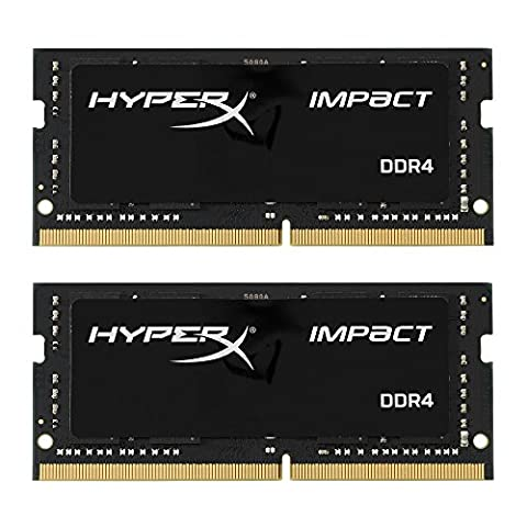 HyperX Impact HX424S14IBK2/32 32GB (2 x 16GB) RAM Kit (2400MHz DDR4 CL14 SODIMM, 1.2V, 260-pin)