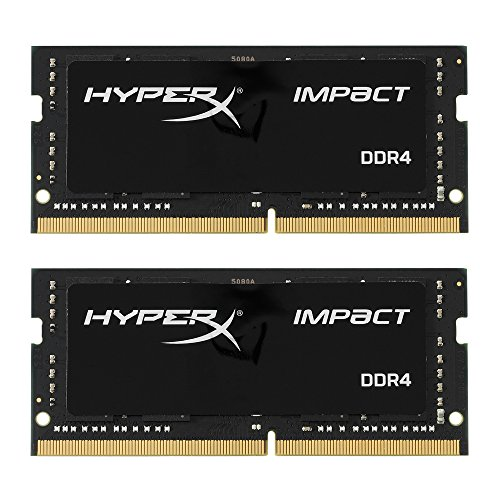 Kingston HX424S14IBK2/32 Impact Notebook Memory 32 GB Kit (2 x 16 GB) 2400 MHz DDR4 CL14 SODIMM, 1.2 V, 260-Pin, Black