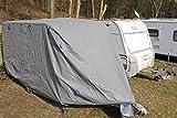 GREEN YARD IGYGAAPXL0001 Abdeckplane für Wohnwagen oder Wohnmobile, 670 x 250 x 220 cm, Grau, XL