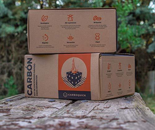 Briquetas de Carbón Vegetal para Barbacoa Ecológico y 100% Natural | Autoencendido...