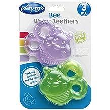 Playgro 0182213 - Mordedor refrigerante, forma de abeja, 2 unidades