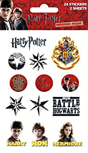 Harry Potter Sticker Pack (24 Stickers on 2 Sheets)