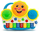 VNC Baby Drum Musical Toy, Keyboard Piano Drum Set with Music and Lights