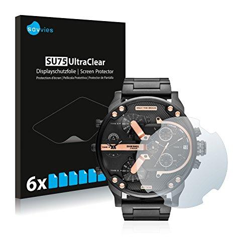 Savvies Schutzfolie kompatibel mit Diesel DZ7312 (6 Stück) - ultraklare Displayschutz-Folie