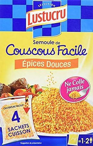 Lustucru Couscous Épices Douces Sachet Cuisson 400 g - Lot de 6