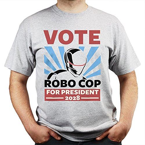 Vote Robo the Cop T-shirt Grau