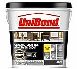 UniBond - Adhesivo para baldosas en suelos cerámicos, color gris