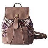 Amayay Daypacks Erwachsene Vintage Stylisch Backpack Schultasche Frauen Print Kordelzug Vintage...