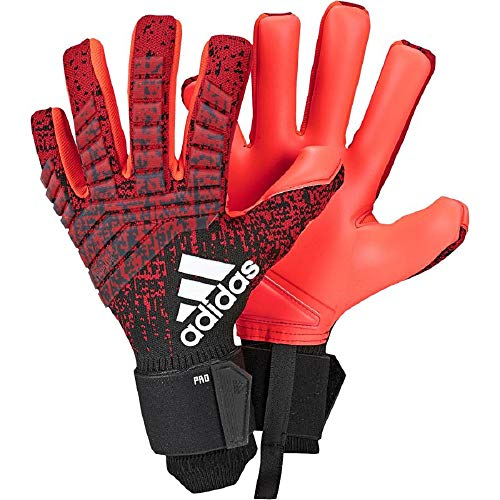 adidas Herren Predator Pro Torwarthandschuhe Active Black/Solar Red, 10