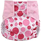 Zmdnys Baby Boys Girls Diaper Covers Printing Breathable (Pink)