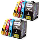 8x OfficeWorld No.27XL Combo Pack High Capacity Ink Cartridges for Epson WorkForce WF 3640 7610 3620 7620 7110 (2 Black, 2 Cyan, 2 Magenta, 2 Yellow)