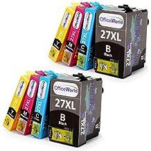 OfficeWorld Cartucce Compatibili Sostituzione per Serie Epson 27XL Cartucce d