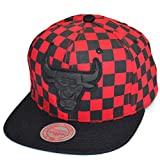 Mitchell & Ness Snapback Cap Checked Crown Chicago Bulls Black/red