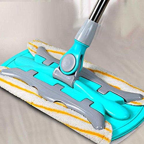 GAOJIAN Hochwertige flache Teleskop-Mop 360 Grad Rotation Microfaser Tuch für zu Hause Holz Boden Küche Wohnzimmer Reinigungs-Tools , a