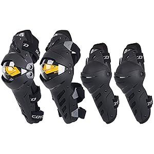 Rodilleras profesionales Soporte de rodillas Motocicleta codo y rodilleras motocross bicicleta protector armadura protector conjunto ciclismo patinaje esquí -4pcs Para Recuperación Gimnasio Deportes B