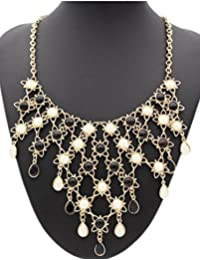 TBOP NECKLACE THE BEST OF PLANET Simple And Stylish Jewelry Necklace Female Sweater Chain In Black And White Color