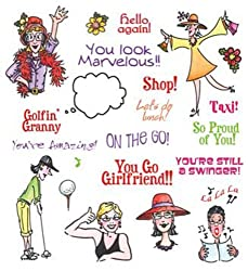 See Ds Groovin Grannies 22 Detailed Rubber Stamps And Case  50041 Sugar Loaf
