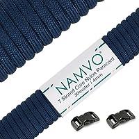Namvo 550 Paracord Mil Spec Tipo III Cable de paracaídas de 7 Cuerdas Longitud 100 pies / 30 Metros -Azul Marino