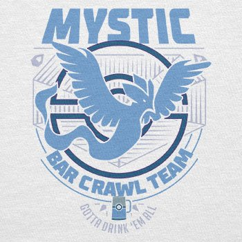 NERDO - Bar Crawl Team Mystic - Damen T-Shirt Weiß