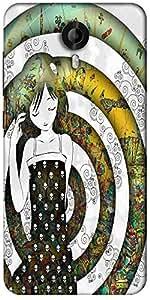 Snoogg Girl On A Coloful Pattern 2779 Designer Protective Back Case Cover For Micromax Canvas Nitro 3 E455