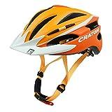 Fahrradhelm Helm Cratoni Pacer. orange-white matt - Visier weiß. Gr. S-M (54-58 cm)