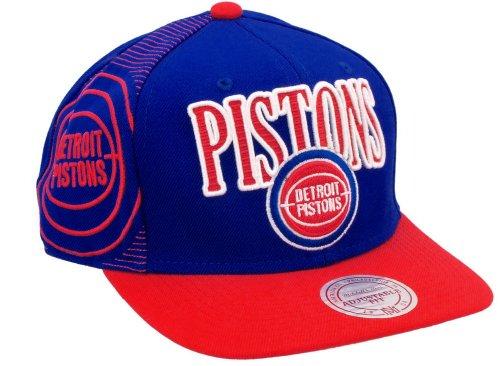 Mitchell & Ness NBA Detroit Pistons Laser Stitch Snapback Cap