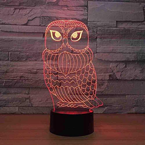 3D Lampe Cute Owl 7 Farbe LED Nachtlampen für Kid Touch Led USB Tisch Baby Sleeping Night Light