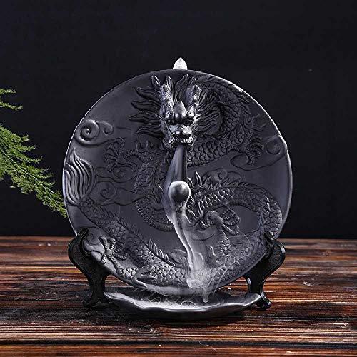 ZHJS Shengshi Xianglong Alpin Eau Céramique Créative Meubles Pendentif Cheung Long Turtle Noir