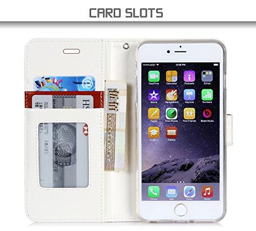 iPhone 6S Plus Coque, Coque iPhone 6 Plus, Fyy® [Séries Haut de gamme] Étui en cuir de première qualité avec Coverture Toute-Puissante pour iPhone 6 Plus/6S Plus (5.5 pouces) Motif 63 A-Marron Foncé