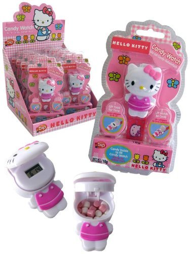 hello kitty watch with candy