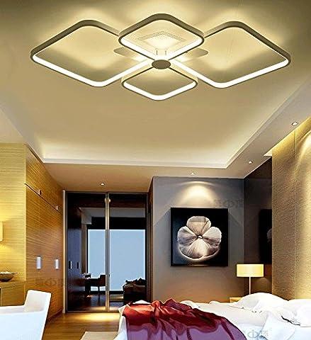 FJ-85W LED Decke Lampe Wohnzimmer Esszimmer Schlafzimmer moderne minimalistische Persönlichkeit Acryl Licht in der Halle 80 cm *